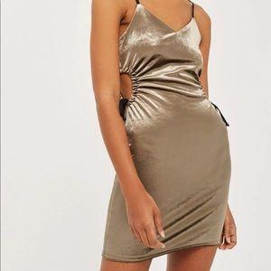 Topshop velvet cutout bodycon dress